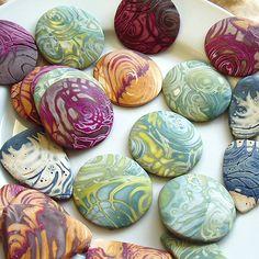 Mokume Gane Polymer Pendants by Samantha_Braund, via Flickr