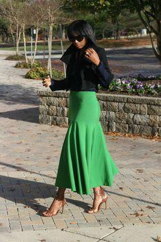 DIY drop waist skirt