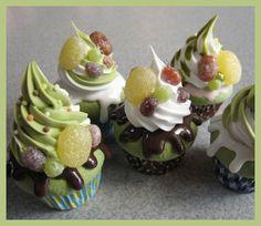 green tea ice-cream cupcakes