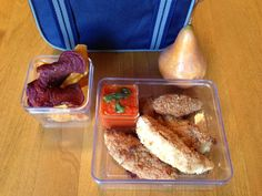 Building a Fun Lunch Box – Chicken Parmesan Fingers with Tomato Dipping Sauce