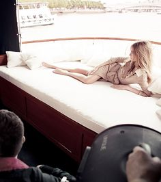 The Burberry Body Tender campaign shot on the River Thames in London