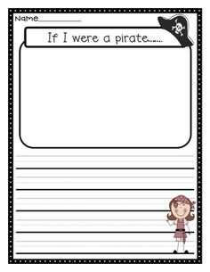 """pirate prompt! I'd use this after reading """"How I Became A Pirate"""" One of my favorite read-alouds!"""