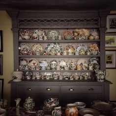 This is a picture from EB's next book - it's her kitchen dresser!