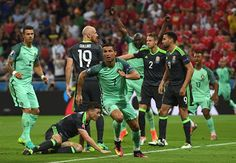 Ronaldo and Nani Masterclass ensure Portugal reach EURO 2016 final after win over Wales Wales Euro 2016, Portugal Euro, Cristiano Ronaldo Wallpapers, Michel Platini, European Championships, Semi Final, Master Class, Finals, Soccer