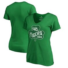 LSU Tigers Fanatics Branded Women's Plus Sizes St. Patrick's Day Paddy's Pride T-Shirt - Kelly Green - $29.99