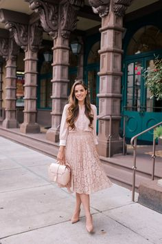 Daily look - gal meets glam Modest Dresses, Modest Outfits, Modest Fashion, Cute Outfits, Fashion Outfits, Fashion Tips, Easy Outfits, Work Fashion, Work Outfits