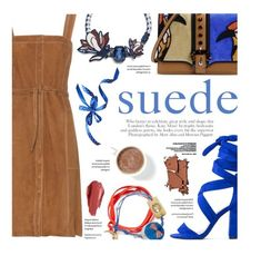 """""""Suede"""" by federica-m ❤ liked on Polyvore featuring Paula Cademartori, M.i.h Jeans, Tory Burch, Retrò, Urban Decay, Blue, ToryBurch, suede, brown and laceupsandals"""