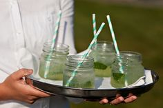 straws and mason jars!