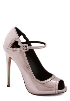 Betsey Johnson Mirror Finesse Heel, #ModCloth bought these wore them with the starlight hearted dress