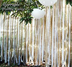 hessian lace photo booth backdrop