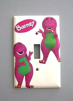 Barney the Dinosaur Single Switch Plate switchplate . $9.49