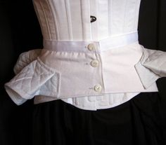 Victorian Bustle Pillow Support Made to Order by redthreaded - red lingerie, ensemble lingerie, womens white lingerie *ad