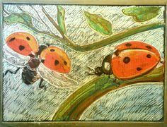 Waldorf chalkboard weekly theme drawing kindergarten homeschool - Ladybugs and Gentleness