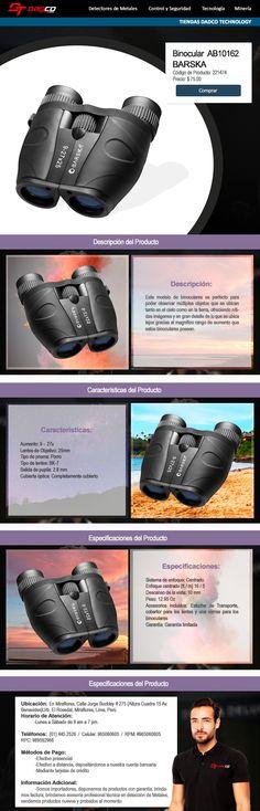 Este modelo de binoculares es perfecto para poder observar múltiples objetos que se ubican tanto en el cielo como en la tierra, ofreciendo nítidas imágenes y en gran detalle de lo que se ubica lejos gracias al magnifico rango de aumento que estos binoculares poseen. (Más información del producto en la página web)