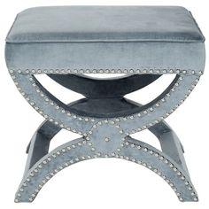 Safavieh Dante X-Bench  Ottoman (€190) ❤ liked on Polyvore featuring home, furniture, ottomans, bears furniture, safavieh furniture, safavieh, bear footstool and safavieh ottoman