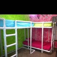 PVC bunk beds
