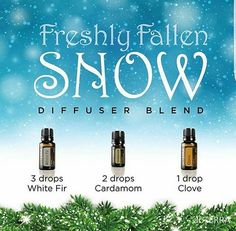 Fresh fallen snow in Utah today and this is in my diffuser and rocking my world as I look out at ALL OF THE FRESH SNOW! This is amazing!!! Yummy   #yummy #diffuser #oil #love