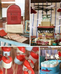 Vintage airplane baby shower full of adorable ideas! Via Kara's Party Ideas @HUGGIES Baby Shower Planner Baby Shower Planner.
