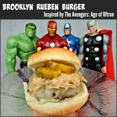 Brooklyn Reuben Burger ~ #Recipe Inspired by #Avengers #AgeofUltron