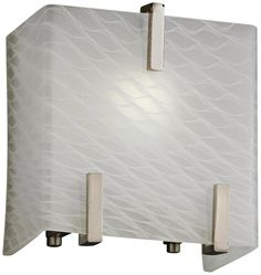 "Clips 6 1/2"" High Weave Glass Brushed Nickel Wall Sconce - #8R405 