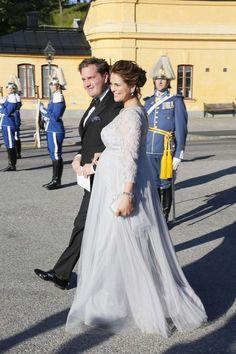 PRINCESS MONARCHY - Princes Madeleine and her husband, Chris O'Neill. Pre wedding dinner