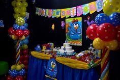 Detalhes da Decoração de Festa Galinha Pintadinha #decoracao #decoration #galinhapintadinha #festa #party