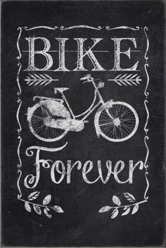 Chalkboard bike forever poster #junkydotcom http://www.zazzle.com/chalkboard_bike_forever_poster-228819025898243496?rf=238087280021604351