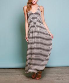 Another great find on #zulily! Lumière Cream & Black Stripe Sleeveless Maxi Dress by Lumière #zulilyfinds