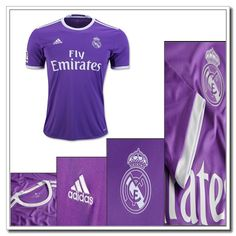 Champions League Real Madrid Auswärtstrikot Adidas Lila 2016 2017 0c2a7ede8502a