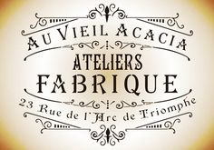 French style Ateliers Fabrique shabby chic stencil A3 size