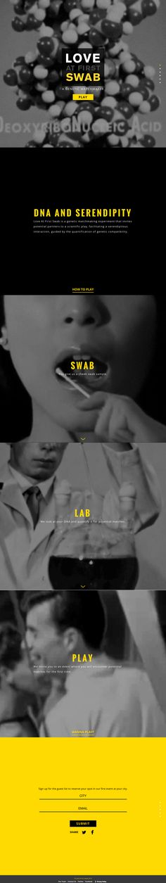 Love at First Swab, DNA dating #webdesign