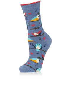 Singing Bird Sock | Multi | Accessorize