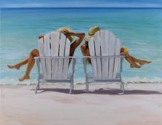Prints of feeling beachy . by JeanneDeCosteART on Etsy
