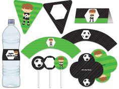 Festa Futebol - esporte - menino - aniverários - verde, preto, branco Tuty - Arte & Mimos www.tuty.com.br