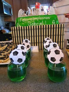 Soccer Birthday Party Decoration Ideas - Unique Soccer in Soccer Theme Party Decorations - Party Decor Sports Themed Birthday Party, Soccer Birthday Parties, Birthday Party At Home, Football Birthday, Soccer Party, Sports Party, Birthday Party Decorations, Soccer Baby Showers, Daisy Party