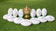#rugbyworldcup 13 venues 13 balls