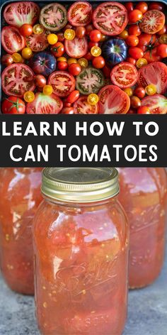 Learn exactly how to can tomatoes in this easy step-by-step guide!