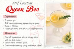How to Make A Queen Bee Cocktail