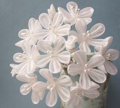 Flower Ball Tsumami Kanzashi Bridal via Etsy