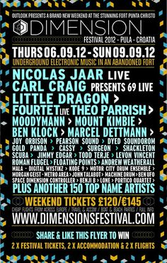 Dimensions Complete Unbelievable Line-Up with Nicolas Jaar and More...
