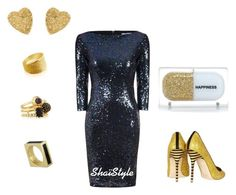 """""""Gold Room"""" by shaistyle on Polyvore featuring Alice & You, Sarah's Bag, J.Crew, Yves Saint Laurent, Eddie Borgo and Belcho"""