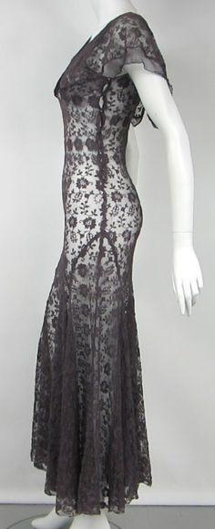 1930s Mesh Flutter Dress image 6