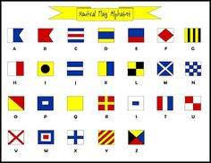 Did you know that there is a nautical flag for every letter of the alphabet? Use them to make codes for kids to practice spelling (and sight) words! Free downloads available.