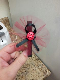 "Ladybug baby shower pins. ""Don't say baby"" game"