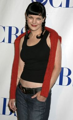 "Pauley Perrette aka ""Abby"" from NCIS with Mark Harmon"