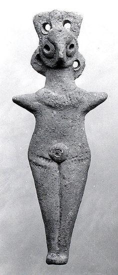 Nude female figure Period: Middle Bronze Age Date: ca. early 2nd millennium B.C. Geography: Levant Medium: Ceramic