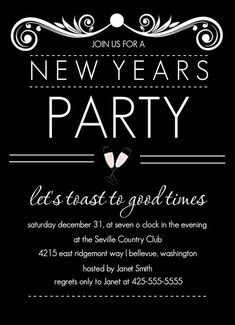 nye party invitation by purpletrailcom new years eve party ideas newyearsevepartyideas