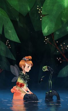 faerie and frog
