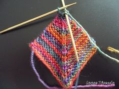 Knit Mitered Square Blanket Click here for my revision to this blanket. It will show you how to join squares and how to add the squar... Knitting Squares, Knitting Stitches, Knitting Patterns Free, Knitting Yarn, Knit Patterns, Hand Knitting, Free Pattern, Mitered Square, Sock Yarn