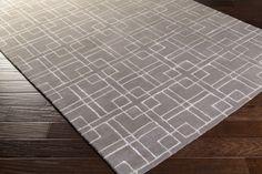 Manor Area Rug | Gray Geometric Rugs Hand Tufted | Style MNR1012